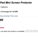 Zagg is offering iPad Mini Screen Protectors Prior to the Launch