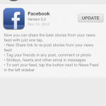 Facebook 5.2 for iOS Released with Better Sharing, Tagging and More