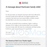 $2.5Million Donated to American Red Cross by Apple to Support Sandy Relief