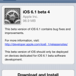 Download iOS 6.1 Beta 4 Released by Apple for Developers only