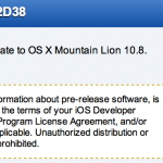 Apple Released OS X Mountain Lion 10.8.3 (12D38) to Developers