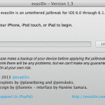 Download Evasi0n 1.3 with support for iOS 6.1.1(10B145) on iPhone 4S