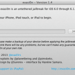 Evasi0n 1.4 Released to Untethered Jailbreak iOS 6.1.2  Download