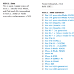 Download iOS 6.1.1 Beta 1 Released by Apple to Put Evasi0n in Danger