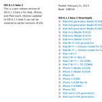 Apple Released iOS 6.1.3 Beta 2 (10B318) for Developers Only