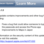 iOS 6.1.3 Debuts with Screen Flaw Fix, is Evasi0n Jailbreak fixed?